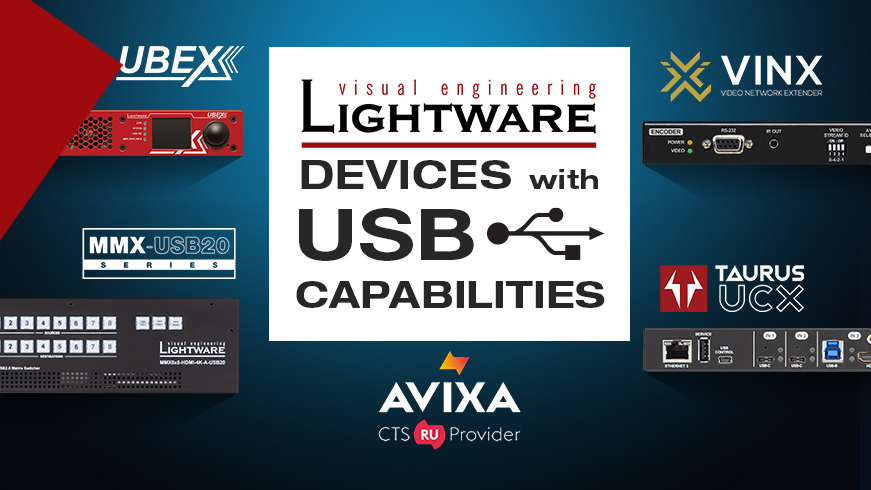 Lightware Devices With USB Capabilities