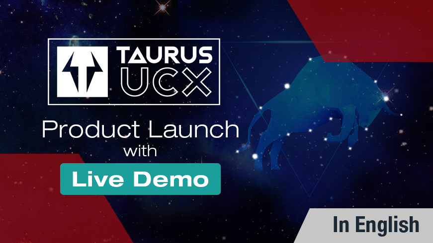Taurus UCX with USB-C switching is here! - Product Launch Webinar with Live Demo